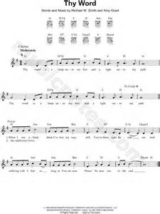 Thy Word Is A L Unto Chords by Grant Quot Thy Word Quot Sheet Leadsheet In G Major