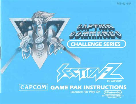 Section Z by 8 Bit City Section Z Nes Manual Scans