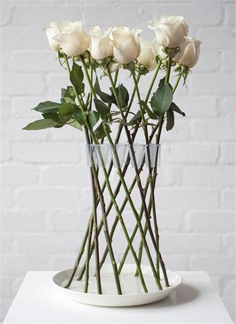 Flower Vase Arrangements by Cool Design Idea For Decorating With Flowers Invisible Vase