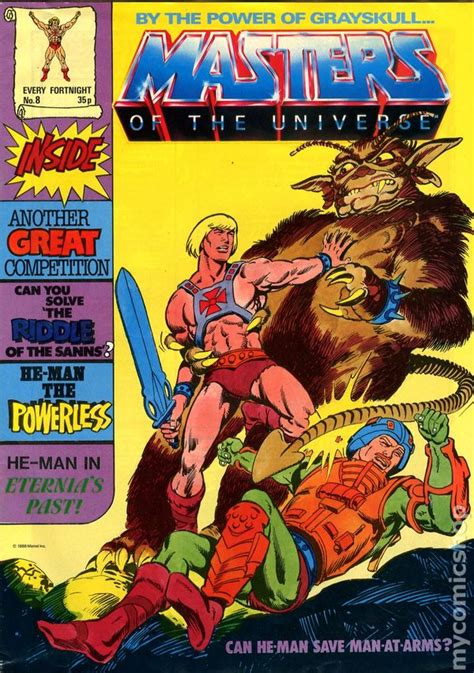 masters of books masters of the universe 1986 uk edition comic books