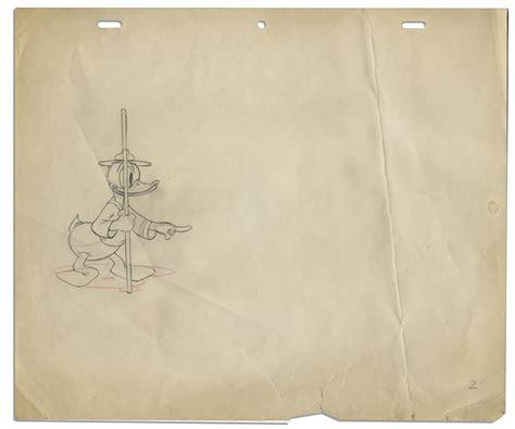 sketch paper lot detail bradbury owned sketch of walt disney s