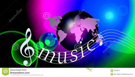 note mondo di musica immagine stock