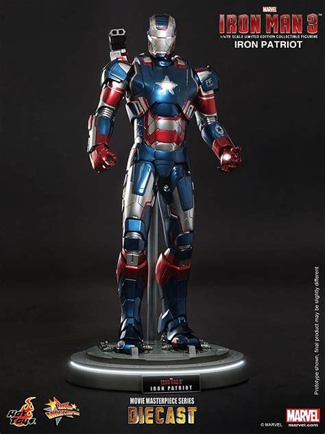 Ironman Figure Iron Patriot 1 toys reveals 1 6 scale iron 3 diecast iron patriot figure