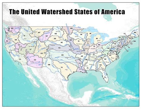 usa map showing state boundaries a new map of the u s created from where we get our water