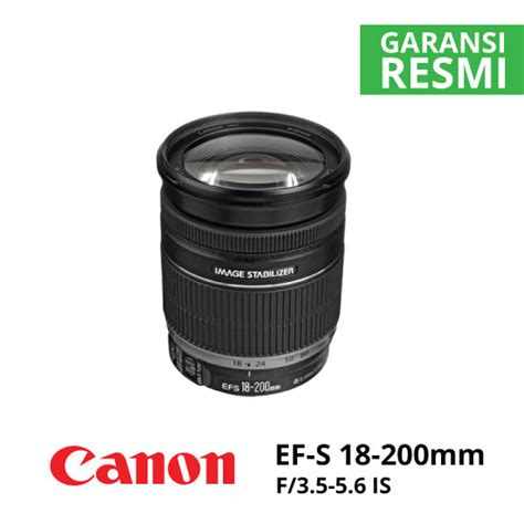 Ef S 18 200mm F 3 5 5 6 Is jual lensa canon ef s 18 200mm f 3 5 5 6 is harga terbaik
