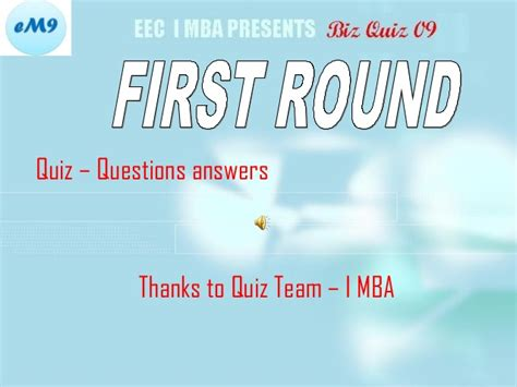 Trivia Team Names Mba by Business Quiz