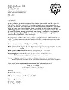 Sponsor Letter For Youth Soccer Sponsorship Request Letter Soccer Team