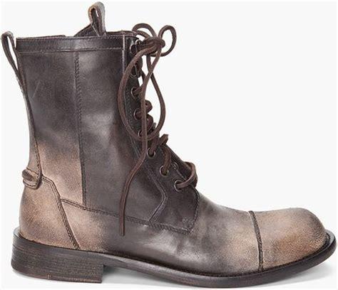 varvatos combat boots in brown for lyst