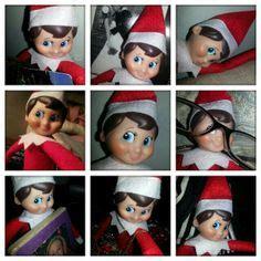 printable elf on the shelf selfies our naughty elf on the shelf joey jr on pinterest elf