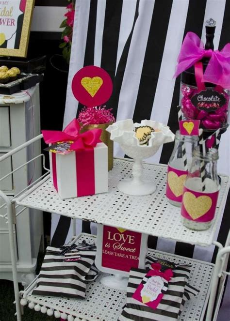 pink and black bridal shower decorations pink black and white bridal wedding shower ideas 2476691 weddbook