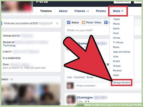 editing facebook layout how to edit the layout of a facebook profile 9 steps