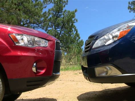 subaru outlander vs outback video when the road turns gnarly the mitsubishi outlander