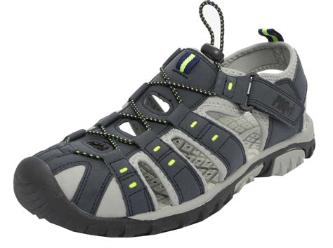 boys sport sandals mens boys pdq sports hiking closed toe trail sandals 2 3 4