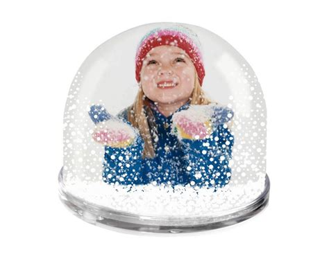personalised photo snow globe christmas snow globe