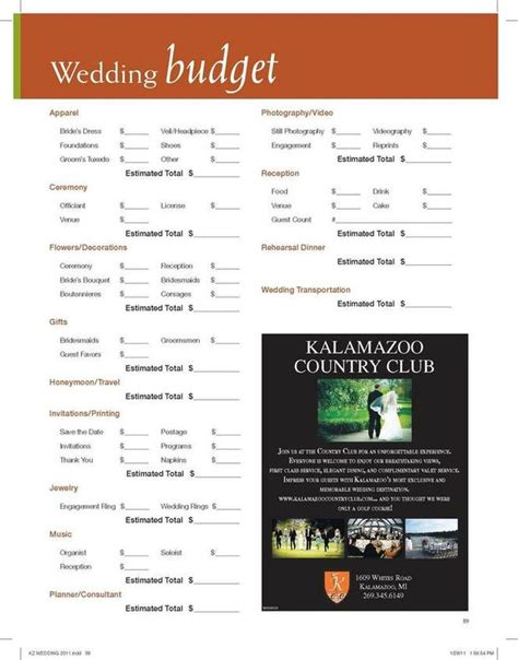 use our wedding budget worksheet to assist you in