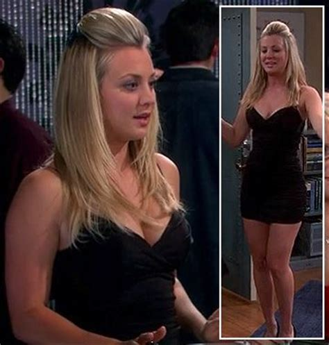 penny from the big bang theory with short hair wornontv penny s black mini dress on the big bang theory