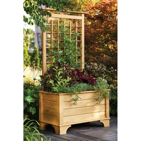 wood trellis plans planter box and trellis woodworking plan from wood magazine