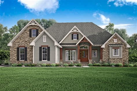 craftsman style house plan 3 beds 2 5 baths 2597 sq ft
