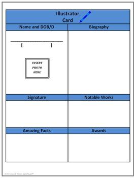 biography card template biography cards template for informational writing common