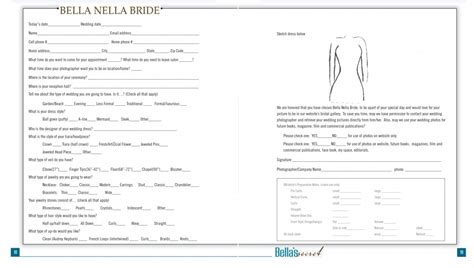 Milady Here S How To Nail Your Bridal Consultation Every Timebella S Secret Academy Hair Extension Consultation Form Template