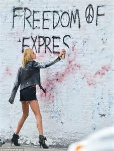 Spray Paints Uk - anja rubik goes rogue in edgy but photo shoot daily mail online