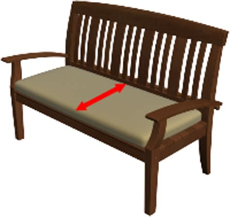 bench depth measuring for bench cushions cushion com