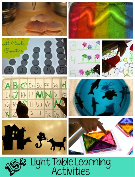 Learning Table With Light 15 light table learning activities where imagination grows