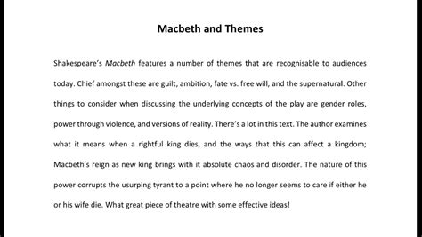 themes in macbeth that are relevant today the amber of the moment macbeth and grammar analysis