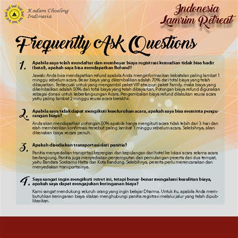 Or Question Indonesia Frequently Asked Questions Kadam Choeling Indonesia