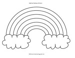 Rainbow Template Preschool by Kinder Learning Garden Rainbow Cloud Addition