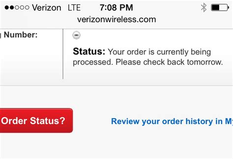 Plus Order Status by Anyone Else Who Pre Ordered The 6 Through Verizon