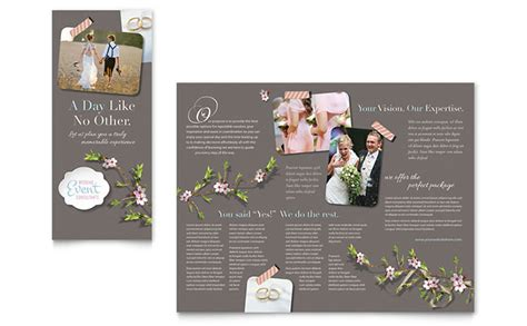 wedding brochures templates free wedding planner brochure template design