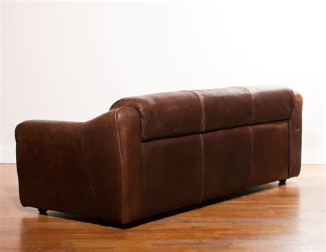 Buffalo Leather Sofa by Buffalo Leather 3 Seater Sofa 1970s Design Market