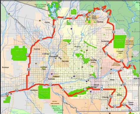 arizona canal map 301 moved permanently