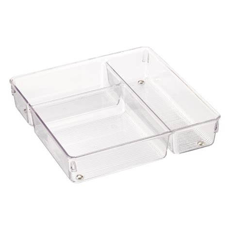 3 Section Container by Linus 3 Section Drawer Organizer The Container Store