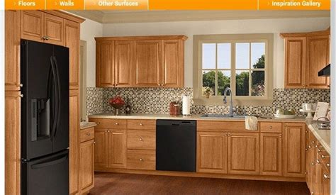 home depot kitchen color ideas colors paint visualizer hickory winter wheat honey