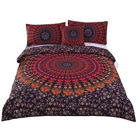 hippie bed set 4 pcs mandala hippie concealed bedspread bohemian bedding