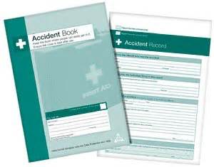 health and safety accident book accident rport book