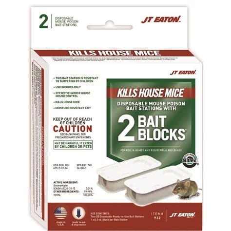 jt eaton top gun disposable mouse bait station 2 pack