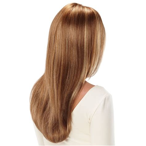 wig rambut palsu model brown gold
