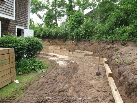 Landscape Timbers Cape Cod Viewing Album Timber Retaining Wall