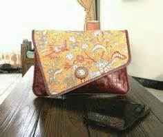 Wedges Tenun Green phyton bags from batik material made in indonesia