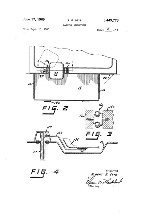 bathtub structure patent us3449773 bathtub structure google patents