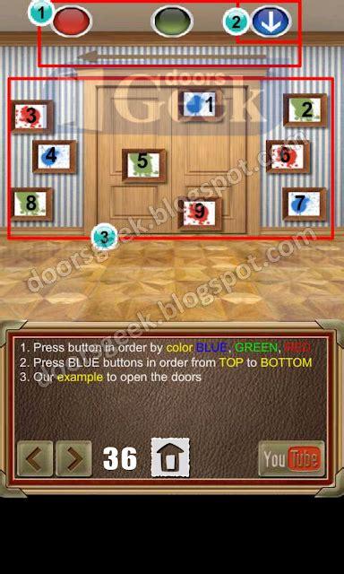 doors of revenge level 15 solution 100 doors of revenge level 36 doors geek