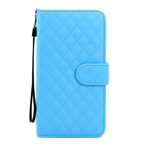Samsung Galaxy Note 5 Flip Leather Wallet Cover wholesale samsung galaxy note 5 quilted flip leather wallet with blue
