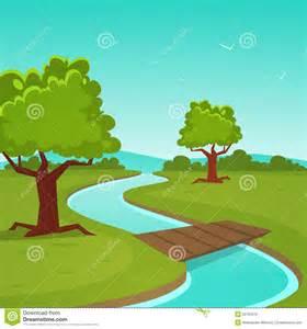 cartoon summer landscape stock vector image 50761079