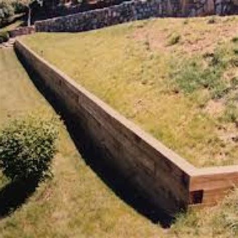 1000 ideas about railroad tie retaining wall on