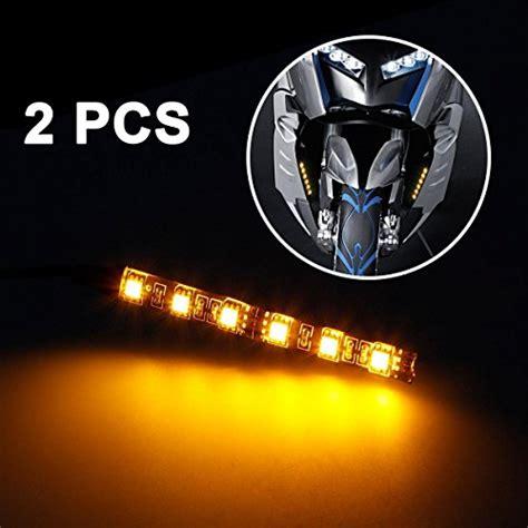 mini led light strips partsam 2x mini black led motorcycle turn signal