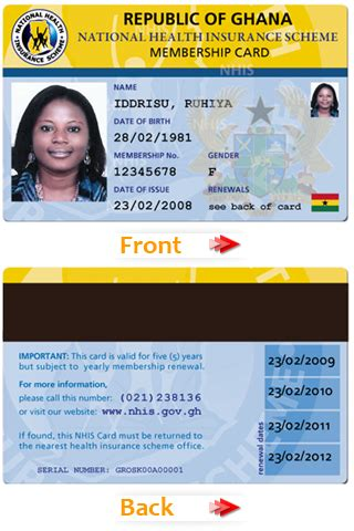national id card template file nhis id card png