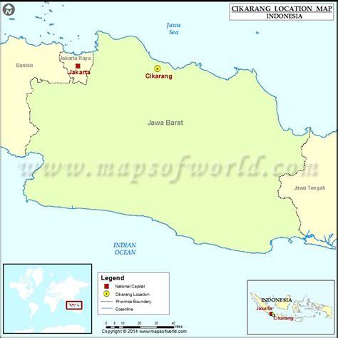 cikarang location  cikarang  indonesia map